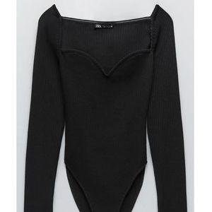 Zara Sweetheart Neckline Bodysuit